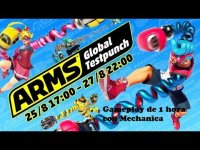 ARMS Global Test Punch Agosto 2017 Gameplay de 1 hora con Mechanica