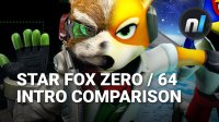 Star Fox Zero / Star Fox 64 Intro Cutscene Comparison